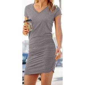 Athleta | Black Topanga Midi Jersey Dress